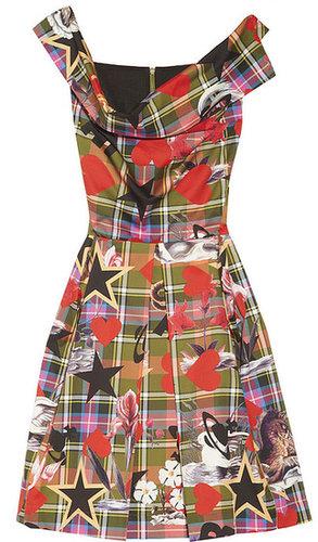 Vivienne Westwood Anglomania Halton draped printed cotton dress
