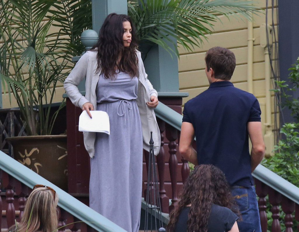 Jenna Dewan shot a scene for Witches of East End.