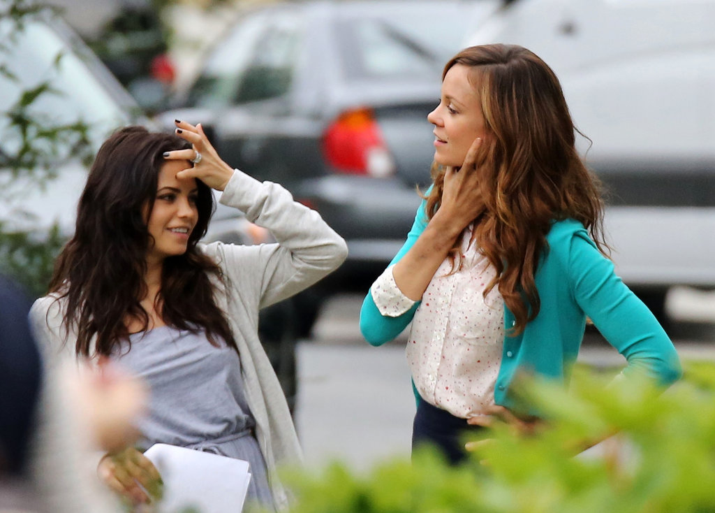 Jenna Dewan caught up with her onscreen sister Rachel Boston.