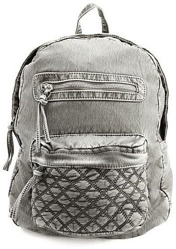 Quilted PU Backpack