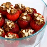 Chocolate Quinoa Stuffed Strawberries
