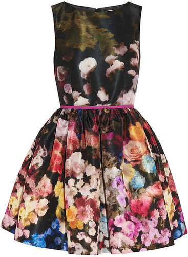 RED Valentino Floral-print taffeta dress