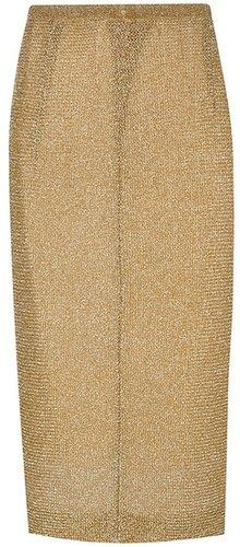 Missoni Vintage metallic midi skirt