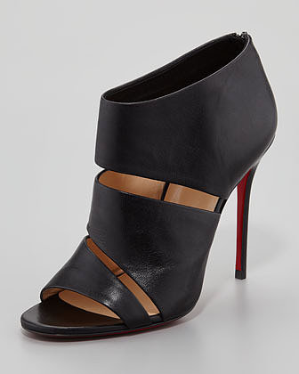 Christian Louboutin Cachottiere Cutout Red Sole Bootie