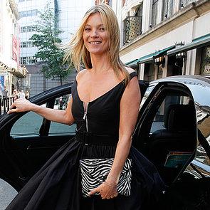Kate Moss Wearing Litte Black Dress in London