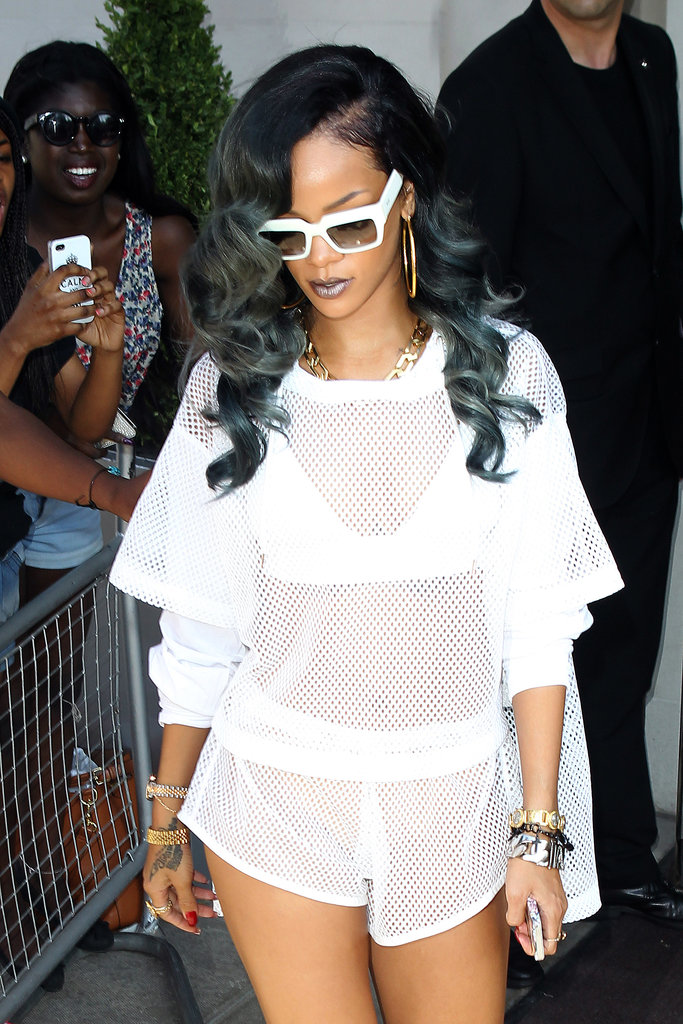 Rihanna debuted gray hair this week and also wore a coordinating silver metallic lipstick. Could it be a preview of her next MAC collaboration?