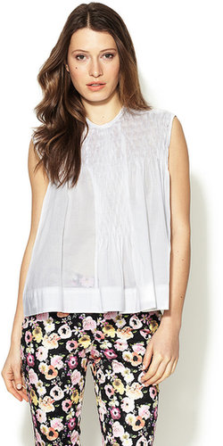 Cotton Ruched Front Top
