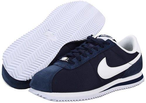 Nike - Classic Cortez Nylon (Navy/White) - Footwear