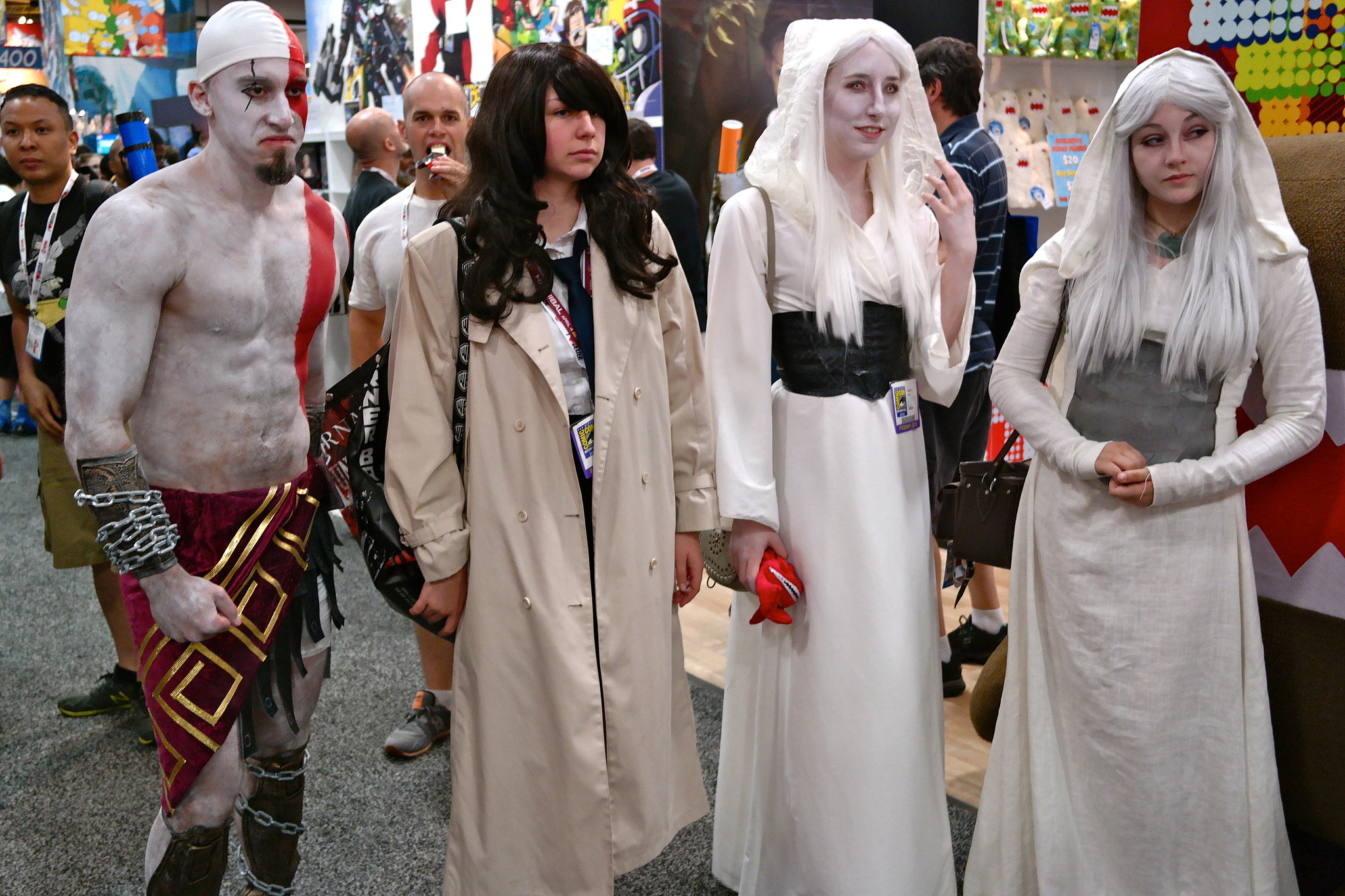Group cosplay certainly makes for a more dramatic entrance.