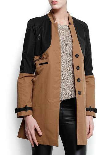 Two-tone duffle jacket
