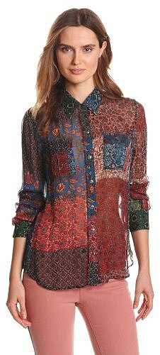 Lucky Brand Women's Jane Stevie Patchwork Top