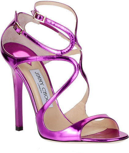 Jimmy Choo Lance mirror leather sandal