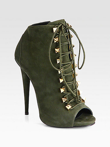 Giuseppe Zanotti Suede Lace-Up Ankle Boots