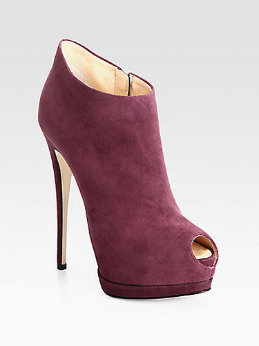 Giuseppe Zanotti Suede Platform Ankle Boots