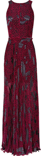 Kerensa PLEATED PRINT MAXI DRESS