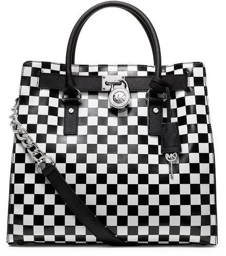 Michael Kors Large Hamilton Checkerboard-Print Tote