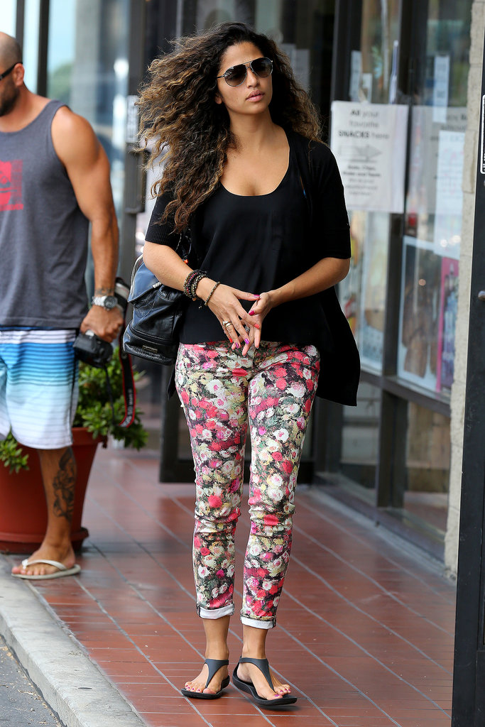 Camila Alves made a stop at a pet store in LA.