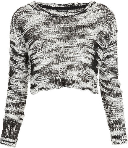 Knitted Slubby Crop Jumper