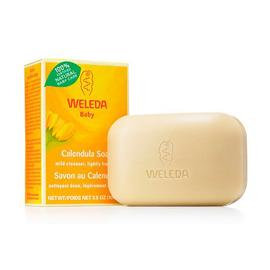 Women with sensitive skin will love Weleda Calendula Baby Soap ($8), which is perfect for a baby's delicate skin.