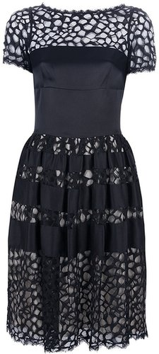 Temperley London contrast cut-out dress