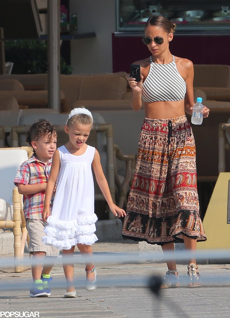 Nicole Richie snapped photos of her kids, Sparrow and Harlow, in the South of France.