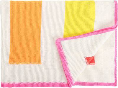 Rani Arabella Striped Cashmere Baby Blanket