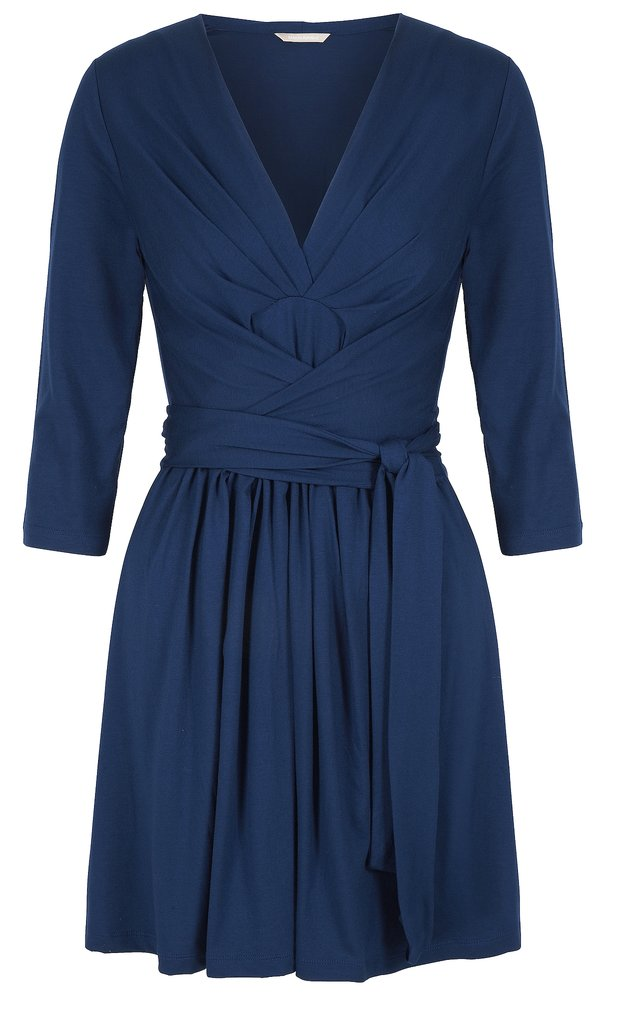 In the same deep blue as Kate's dress and a similar flattering cut, this pretty style ($130) is perfect for work and play. Photo courtesy of Banana Republic