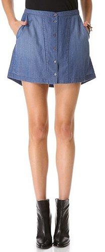 Theyskens' theory Suna Button Skirt