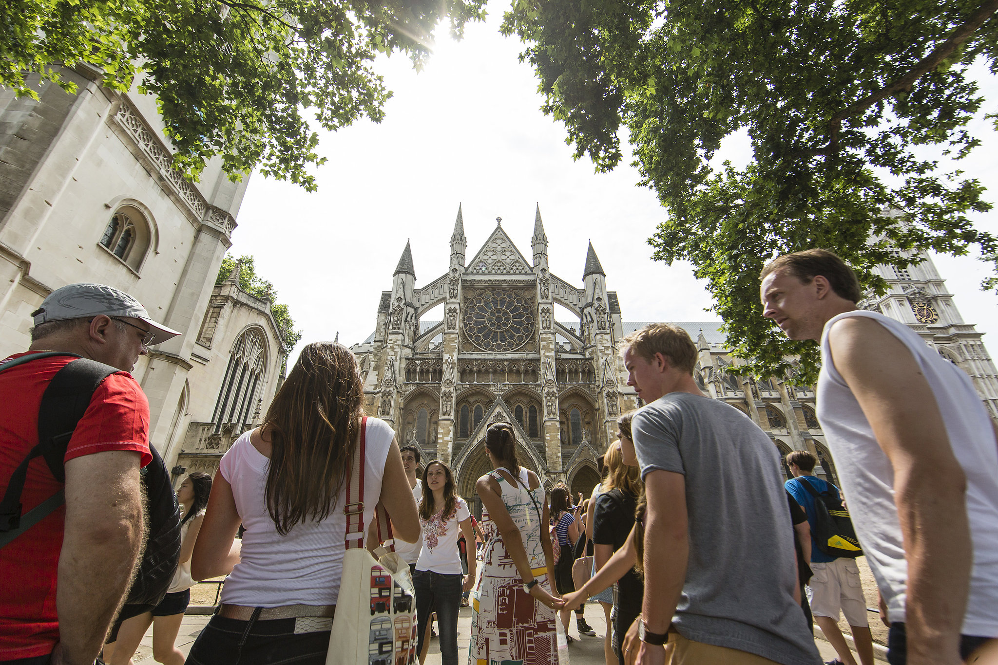Crowds gathered at Westminster Abbey to hear the bells ringing in honor of the royal baby.
