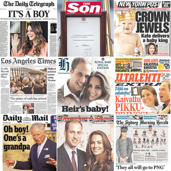 Extra, Extra! The World's Newspapers Cover the Royal Birth