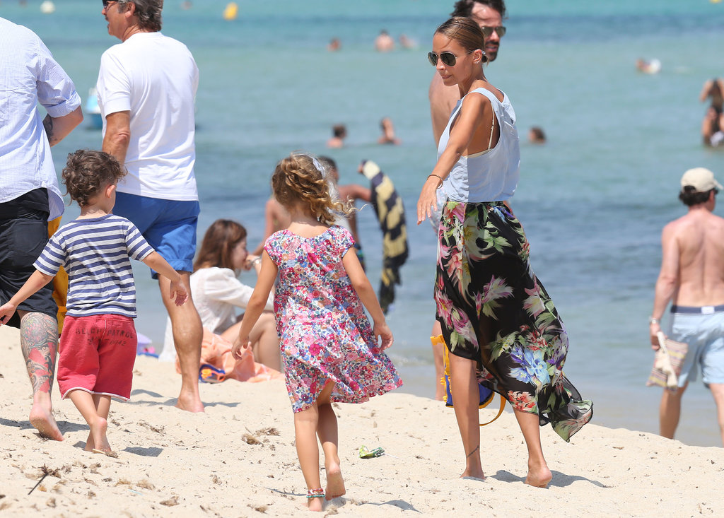 Nicole Richie spent time with her kids in St. Tropez.