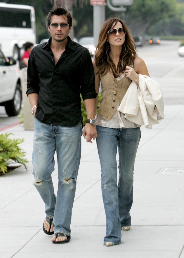 Kate and Len shopped around Beverly Hills in coordinating denim in 2005.