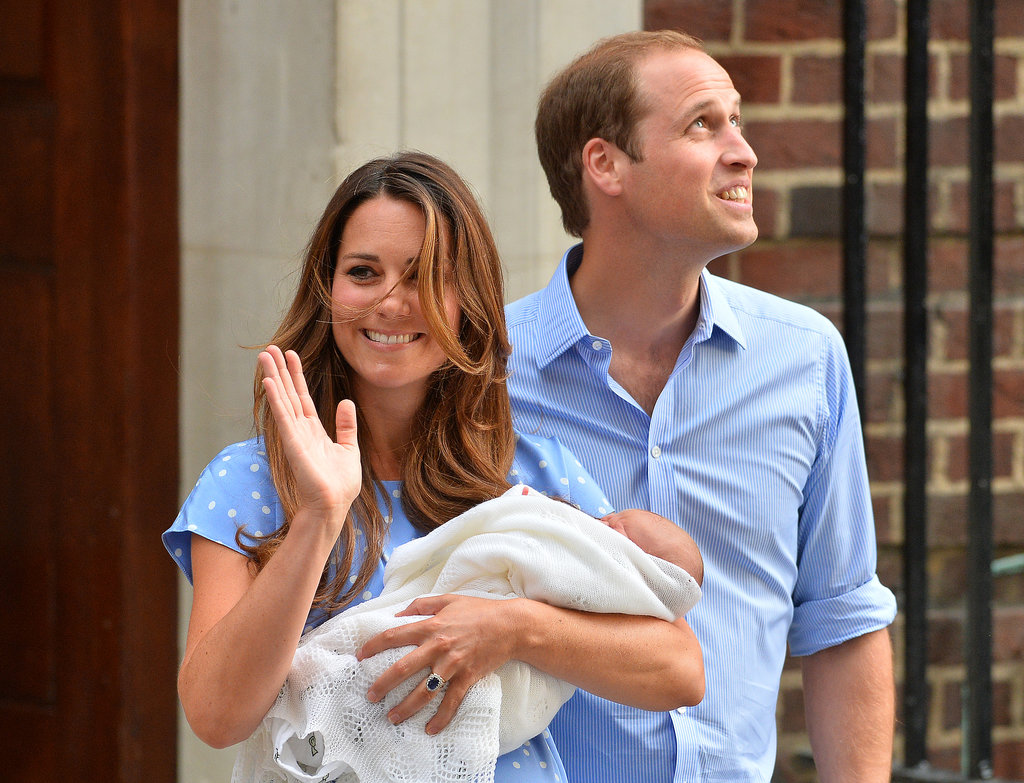 Prince William and Kate Middleton glowed as they left St. Mary's Hospital in London with their son.
