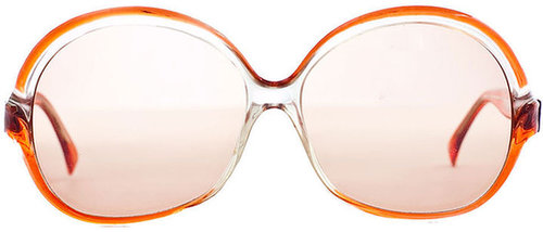 Vintage Lanvin Oversized Round Frame Sunglasses