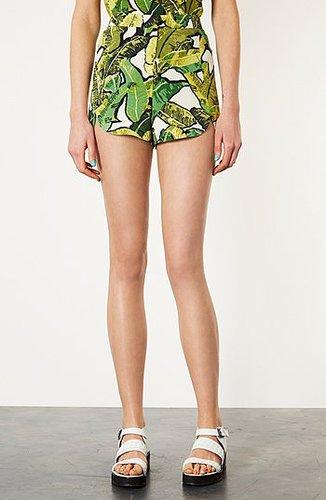 Topshop Banana Leaf Shorts Green Multi 12