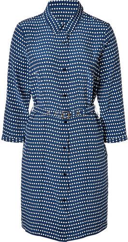 Marc by Marc Jacobs Estate Blue/Multi Silk Izzy Dot Print Dress