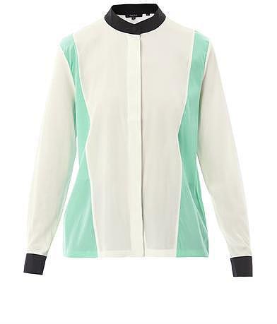 Raoul Colour-block silk shirt