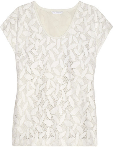 Diane von Furstenberg Acedia cotton-blend lace top