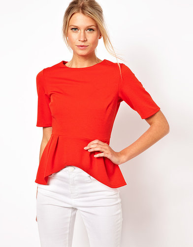 ASOS Peplum Top with Half Sleeve
