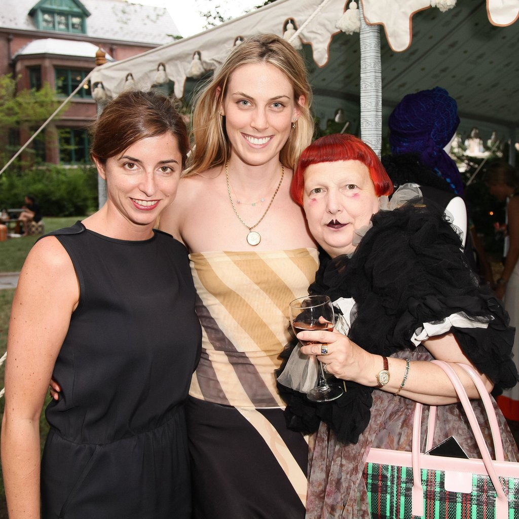 Lynn Yaeger joined Emily Holt and Selby Drummond at the L-atitude High Line preview party.