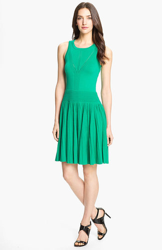 Milly 'Josephine' Pleated Fit & Flare Dress