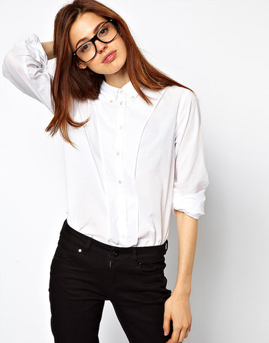 ASOS Shirt With Curved Placket Panel