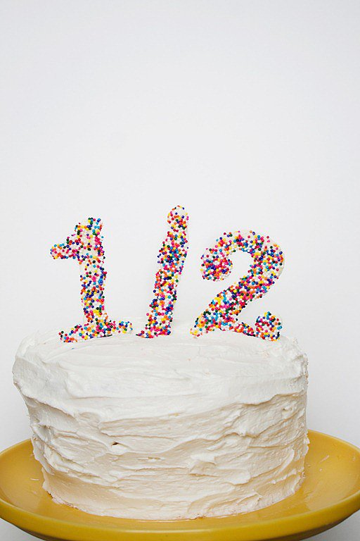 Half Birthday Cake Toppers