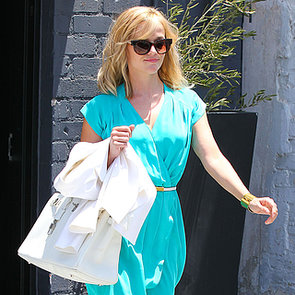 Reese Witherspoon Wears Blue Dress Twice