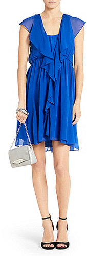Winifred Chiffon Dress In Vivid Blue