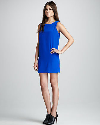 Aaron Ashe Side-Zip Shift Dress