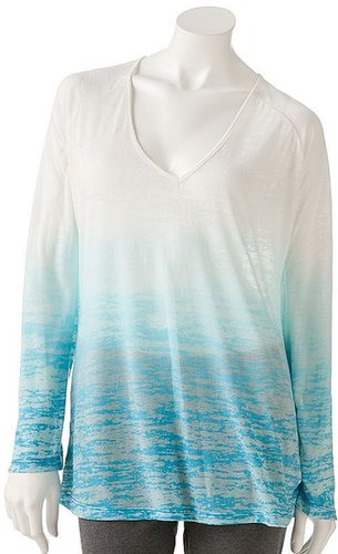 Free society dip-dye burnout tunic