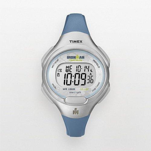 Timex ironman triathlon blue 10-lap digital chronograph watch - t5k6049j - women