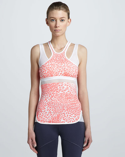 adidas by Stella McCartney Leopard-Print Racer-Front Tank