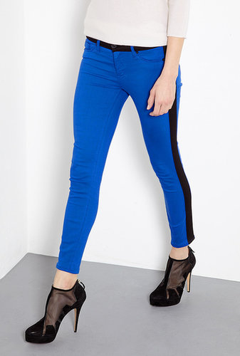 Hudson Blue My Mind Colour Block Leeloo Cropped Skinny Jeans